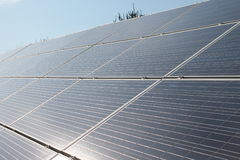 Bright and Sunny Solar Panels Royalty Free Stock Image