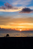 Bright sunrise in early morning Royalty Free Stock Photography