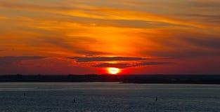 Bright sunset Stock Photography