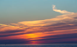 Bright sunset with clouds Royalty Free Stock Photos