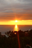 Bright sunset in the Indian ocean Stock Photo