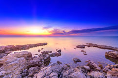 Bright after sunset marine seascape Royalty Free Stock Photography