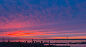 Bright sunset Royalty Free Stock Photos