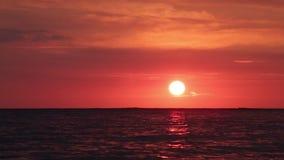 Bright sunset stock footage