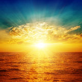 Bright sunset over sea Royalty Free Stock Photo