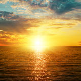 Bright sunset over sea Stock Photo