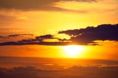 Bright sunset photo Stock Image