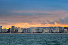 Bright sunset sky above Tangier, Morocco Royalty Free Stock Photos