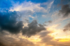 Bright sunset sky background Royalty Free Stock Images