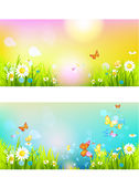 Bright sunshine summer banners Royalty Free Stock Photography
