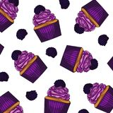 White background colorful cakes with  blackberries. Bright , sweet design element.  White background colorful cakes with  blackberries Stock Images