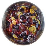 Bright sweet plum jam png. Bright sweet plum jam plums cooking boiling jam sugar Royalty Free Stock Photography