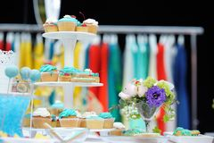 Bright sweet table on event party Stock Photography