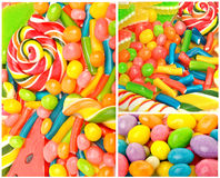 Bright sweets, candies and jelly sweets Stock Photography