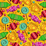 Bright sweets pattern. Royalty Free Stock Photos