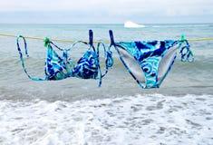 Swimsuit hanging Stock Image