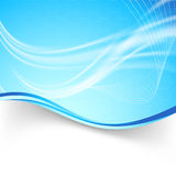 Bright swoosh air lines folder background Stock Photography
