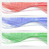 Bright swoosh lines geometrical web elements Royalty Free Stock Images