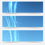 Bright swoosh smooth wave web header collection Stock Photo