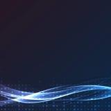 Bright swoosh speed abstract wave layout. Vector illustration stock illustration