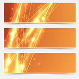 Bright swoosh speed line abstract header set Stock Photo