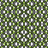 Bright symmetric endless pattern with zigzag black lines, vivid Royalty Free Stock Photography