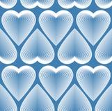 Bright symmetric seamless pattern with decorative hearts, art ba Stock Photos