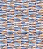 Bright symmetric seamless pattern with interweave figures. Conti Royalty Free Stock Photos