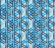 Bright symmetric seamless pattern with interweave figures. Conti Stock Image