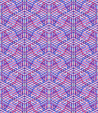 Bright symmetric seamless pattern with interweave figures. Conti Royalty Free Stock Photography