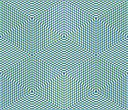 Bright symmetric seamless pattern with interweave figures. Conti Royalty Free Stock Image