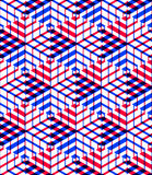 Bright symmetric seamless pattern with interweave figures. Royalty Free Stock Image