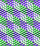 Bright symmetric seamless pattern with interweave figures.  Royalty Free Stock Photography