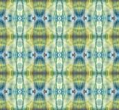 Bright symmetric vertical background. Blue, gray, green, white and yellow pigments. Abstract watercolor painting. Seamless patte stock photos