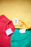 Bright t-shirts Royalty Free Stock Image