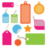 Bright tags Stock Photo