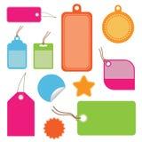 Bright tags Stock Photo