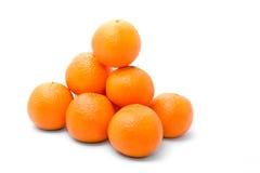 Bright and tasty orange tangerins Royalty Free Stock Photo