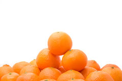 Bright and tasty orange tangerins pile Stock Images