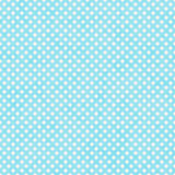 Bright Teal and White Small Polka Dots Pattern Repeat Background. That is seamless and repeats Royalty Free Stock Photo