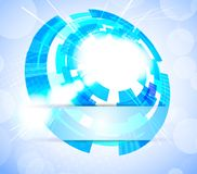 Bright tech background. In blue color Royalty Free Stock Photo