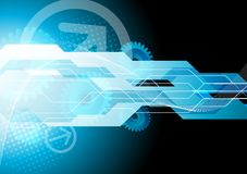 Bright tech background. With gears Royalty Free Stock Image