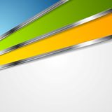 Bright tech background with metal stripes Stock Photos
