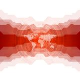 Bright tech background with world map Royalty Free Stock Photography