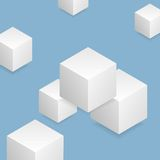 Bright tech geometric background with cubes Royalty Free Stock Image