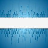 Bright tech geometric blue circles background Stock Photo