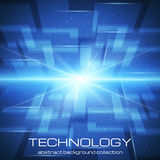 Bright technology background Stock Image