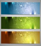 Bright technology banners Royalty Free Stock Photo