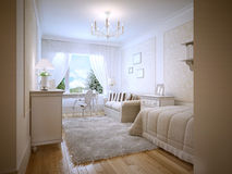 Bright teenage bedroom provence style Royalty Free Stock Photos