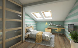 Bright Teenager's Room Royalty Free Stock Image